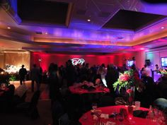 Lighting provided by Choice One Entertainment. #reduplights #choice1ent #weddings