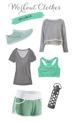 Workout Clothes: Mint and Gray!