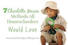 7 Charlotte Mason Methods All Homeschoolers Would Love | www.teachersofgoodthings.com