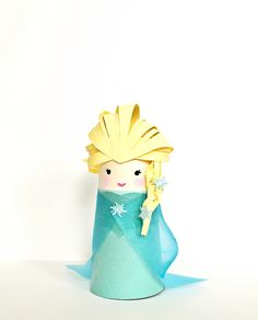 FROZEN ELSA PAPER TUBE CRAFT