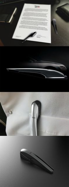 This 'signature stamp' is inspired by Audi's lux design, its elegant form mimics that of the German automaker's own design language and even suits your business attire when carried in your shirt pocket... READ MORE at Yanko Design !