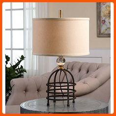 Uttermost 29183-1 Ladonia Rust Table Lamp, Black - Unique lighting lamps (*Amazon Partner-Link)