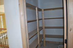 Shelves in pantry.....