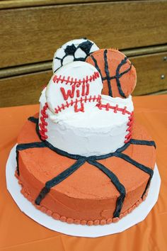 Sports Themed Birthday By lkoenig07 on CakeCentralcom For the