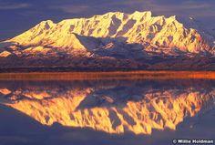 """Reflections of Timpanogos"""" in Utah lake,"""