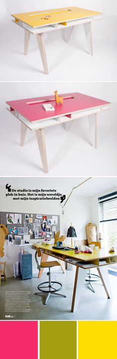 the tall desk in the third picture, for m'studio