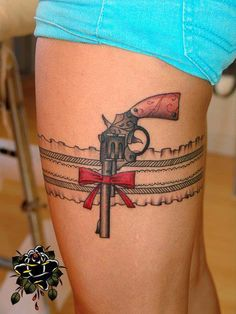 I would love to have this tattoo, me and my hubby love shooting guns!
