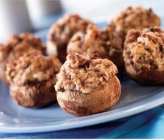 Serve up these Sausage Stuffed Mushrooms as an Easter appetizer! Get this recipe and many more here: http://womanfreebies.com/general-freebies/easy-cooking-recipe-costco/?mushrooms