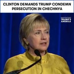 Hillary Clinton wants Trump to condemn the persecution of LGBTQ people in Chechn #news #alternativenews