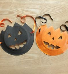 Masque citrouille pour Halloween {tuto} - How to make a pumpkin mask ? - Pure Famille