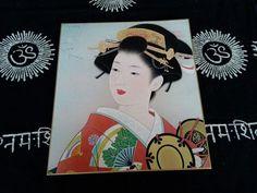 Japanese Geisya Kimono beautiful woman Printed on thick paper