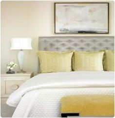gorgeous room - yellow, gray, beige, white