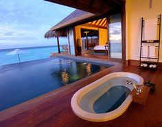 A bathtub with a breathtaking view...