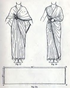 Ancient Egypt costumes and dresses, wrapping instructions for priests and priestesses.