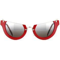 f3a8010d72725b Miu Miu Rasoir MU 11QS UA44N2 Red Sunglasses