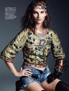 Giedre Dukauskaite by Bjarne Jonasson for Elle France November 2013