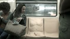 Why this penis is on a subway seat making people uncomfortable