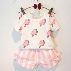 2-Piece Ice Cream Top & Short Set (3T-7X) – BABY OBSESSIONS