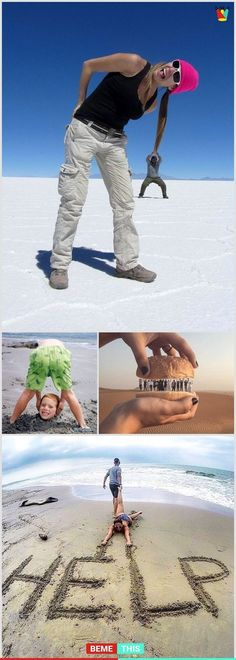 Here are 16 cool and creative ideas for your unforgettable vacation photos H . - Here are 16 cool and creative ideas for your unforgettable vacation photos today Pin - Memes Humor, Funny Jokes, Hilarious, Photos Bff, Funny Photos, Creative Photography, Amazing Photography, Photography Photos, Photography Humor
