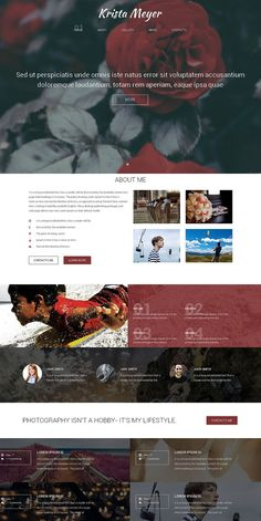 Krista Meyer One Page Theme. HTML/CSS Themes. $12.00