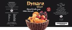 Dynara fruit jam label design