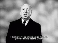 BROTHERTEDD.COM - ac-22: Alfred Hitchcock - Mr. mystery, suspense... Golden Age Of Hollywood, Classic Hollywood, Old Hollywood, Film Quotes, Alfred Hitchcock, Classic Movies, Film Movie, The Funny, Einstein