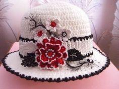 Великолепная шляпка крючком