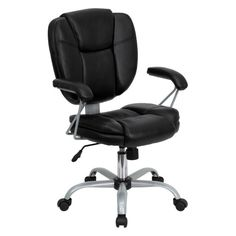 Flash Furniture Mid-Back Task and Computer Chair - Black