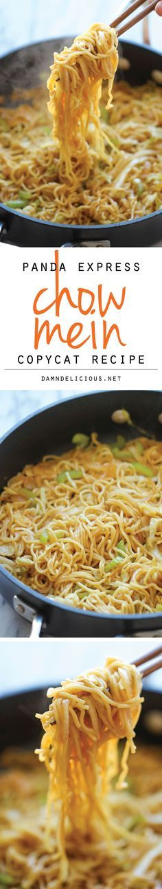Panda Express Chow Mein Copycat - Tastes just like Panda Express except it takes just minutes to whip up and tastes a million times better! WILL TWEAK TO MAKE PALEO
