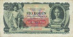 Slovenský štát (1939-1945) - Papírová platidla, bankovky The 100, Let It Be, Money, Retro, World, Banknote, Image, European Countries, Czech Republic