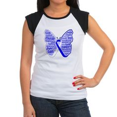 ALS Disease Awareness Awareness Butterfly Ribbon original design on shirts and gifts features powerful words: faith, courage, resilient, hope, strength, support, love, family, win, cure