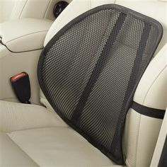 Give your back breathable support and comfort on long commutes. The High Road Comfort Mesh Back Support fits any car seat and can be adjusted up or down to give you support where you need it most. Available at www.highroadorganizers.com