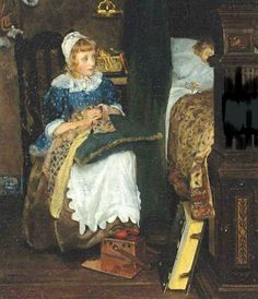In Good HandsLaura Theresa Alma-Tadema (1852 – 1909, English)