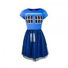 TARDIS Fit & Flare Tulle Dress