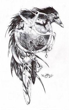 Crow dream catcher