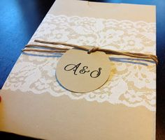 Rustic DIY wedding invitations Tag: cheap inexpensive wedding invitations cute lace country