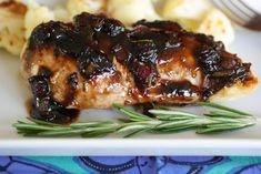Blueberry Glazed Chicken Fancy (but easy)