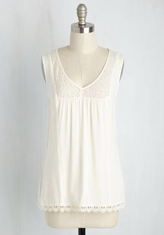 Marketing My Words Top in Ivory, #ModCloth