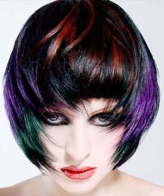 colored hairstyles -