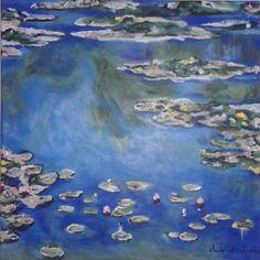 Mi versión de unos nenúfares de Monet