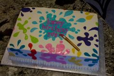 Cake idea for Ethan's messy party