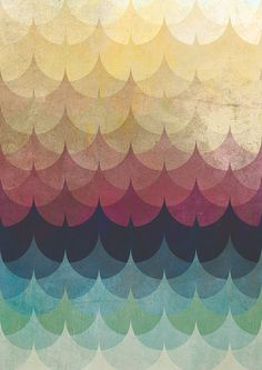Sweet pattern. #waves #peaks #scallops #rainbow #gradient #art #poster