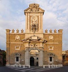 Porta Pia - 1561-1565, Michelangelo,una delle porte delle mura aureliane di Roma situata nel quartiere Nomentano