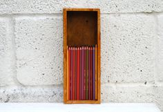 Vintage wooden Box Display Tray Old Pencil box by BaraWenVintage, £6.00