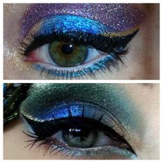 Peacock makeup recreation