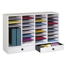 Found it at Wayfair.ca - Large Wood Adjustable-Compartment Literature Organizer with Drawers