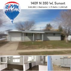 1409 N 350 W, Sunset $182,900 | 2 Beds | 1.75 Baths | 1,046 Sqft  Everything in this home is BRAND NEW! Remodel has been built under permit, and has been fully inspected by the city. There is now a laundry room, and master bathroom. The plumbing, electrical, HVAC, and roof, have been completely replaced and updated, as well as, siding, rain gutters, windows, and flooring.   Call for more details 801-896-7441