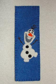 Wool Felt Olaf Bookmark Felt Bookmark Felt Snowman by NitaFeltThings
