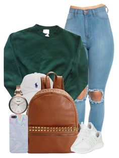 """Lookin' Like A Snack"" by imwhit ❤ liked on Polyvore featuring adidas, Steve Madden and FOSSIL"