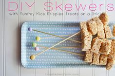 Skewers for fondue treats! Party with color. Get your DIY bead supplies at www.fizzypops.com